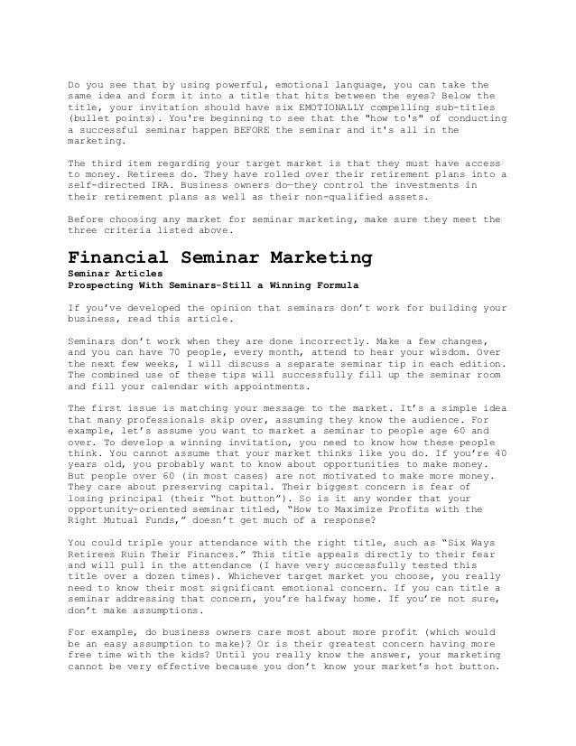 How to conduct seminar marketing 11 stopboris Choice Image
