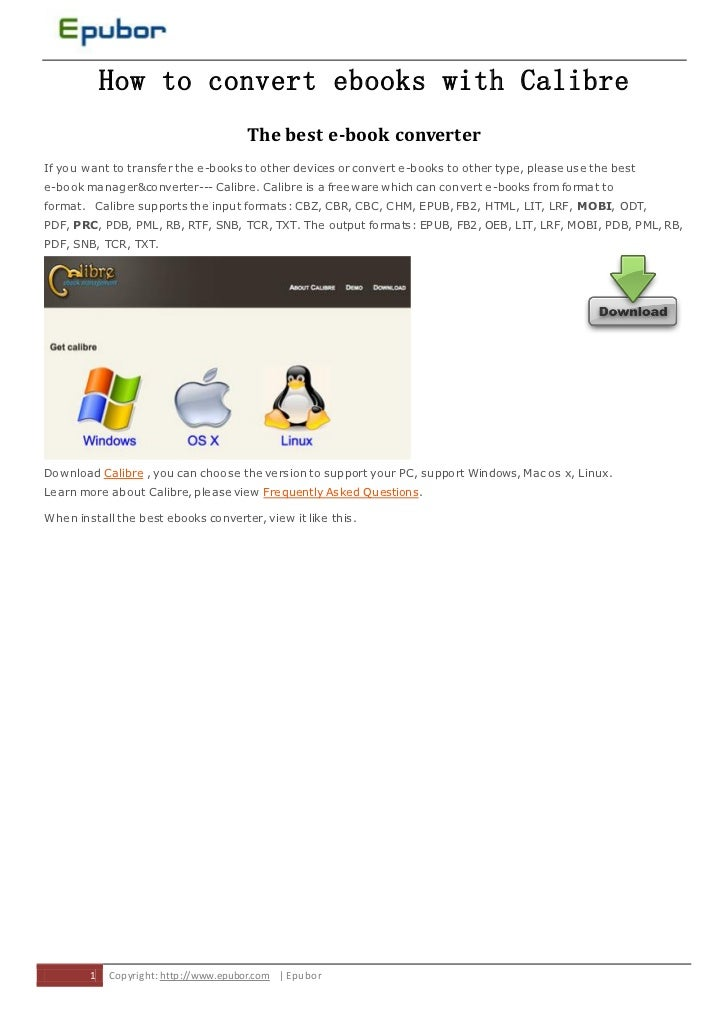 How to convert ebooks with Calibre                                       The best e-book converterIf you want to transfer ...