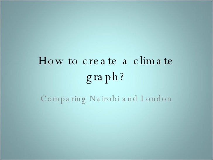 How to create a climate graph? Comparing Nairobi and London