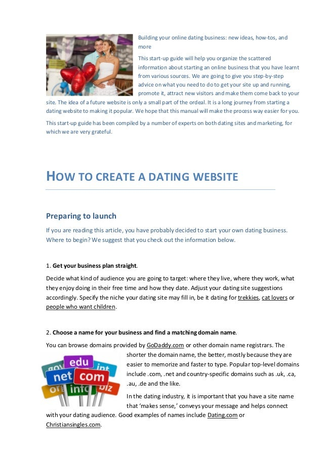 How do you create your own dating website