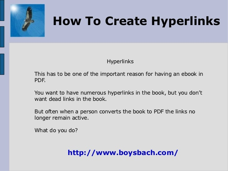 how to create a hyperlink