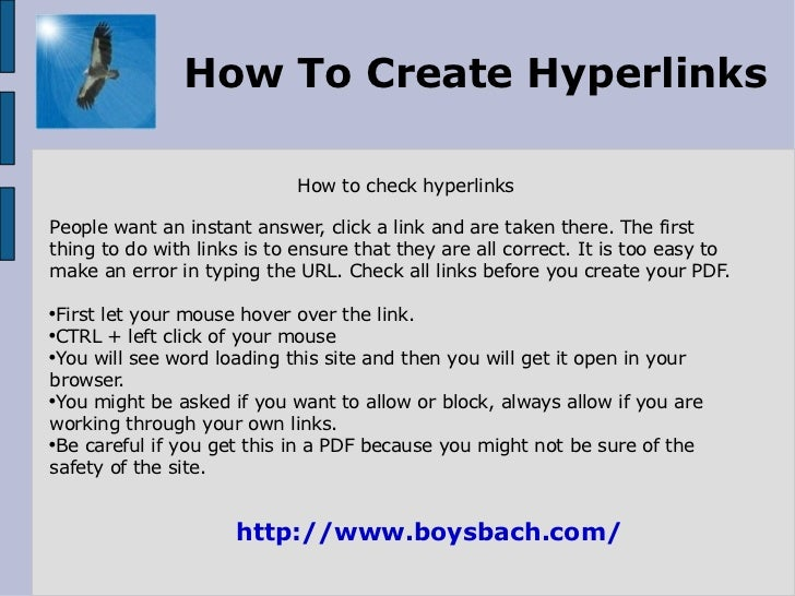 how to make a link a hyperlink