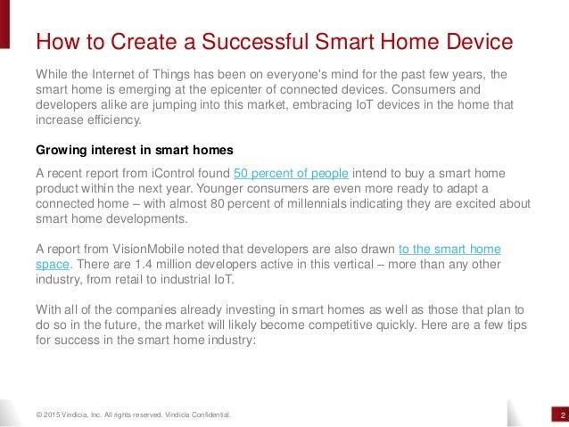 How To Create A Successful Smart Home Device Vindicia