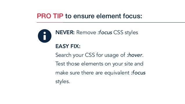 Remove Focus Css
