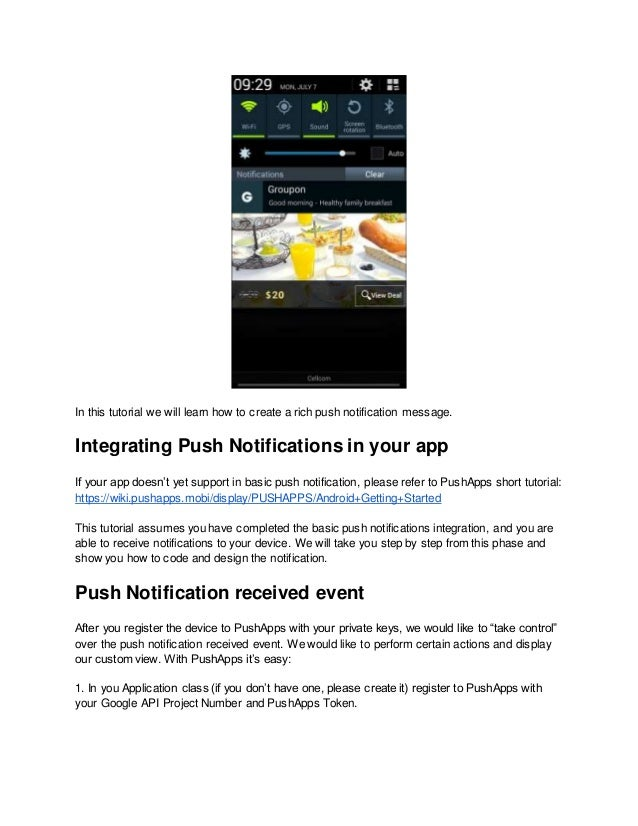 How to create android push notifications with custom view 2 in this tutorial we will learn how to create a rich push notification ccuart Choice Image