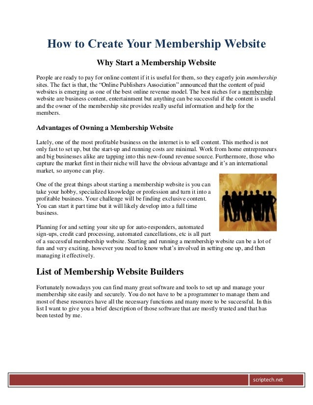 How to Create Your Membership Website                         Why Start a Membership WebsitePeople are ready to pay for on...