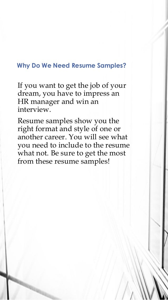 ... Create Resume: Best Resume Samples In 2016; 2.