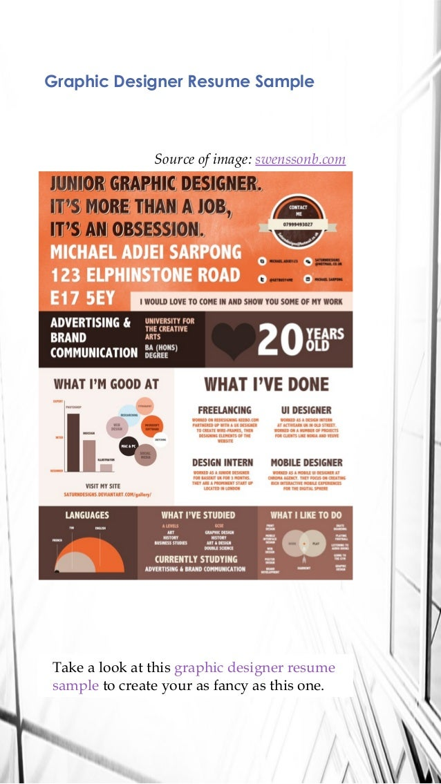 3 graphic designer resume sample