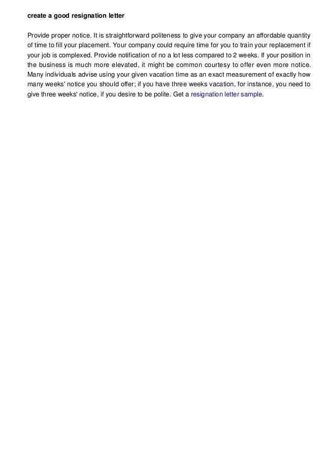 Good Resignation Letter Sample from image.slidesharecdn.com