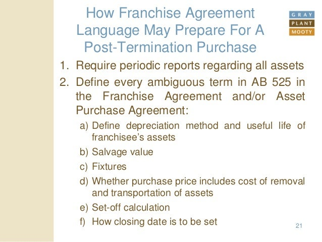 Franchisors How To Deal With California Ab 525