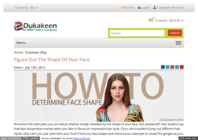 how to find your face shape app