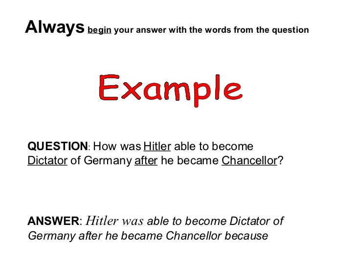 how to answer essay questions in exams