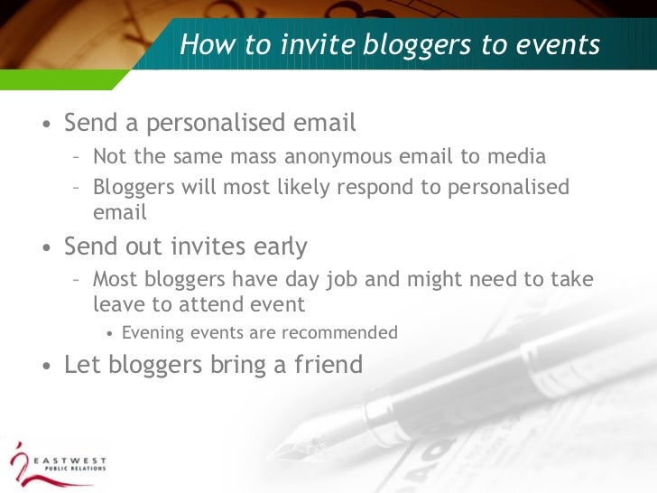 How to engage SG bloggers at events?