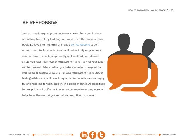 How to engage fans on facebook   10          be responsive                                                                ...