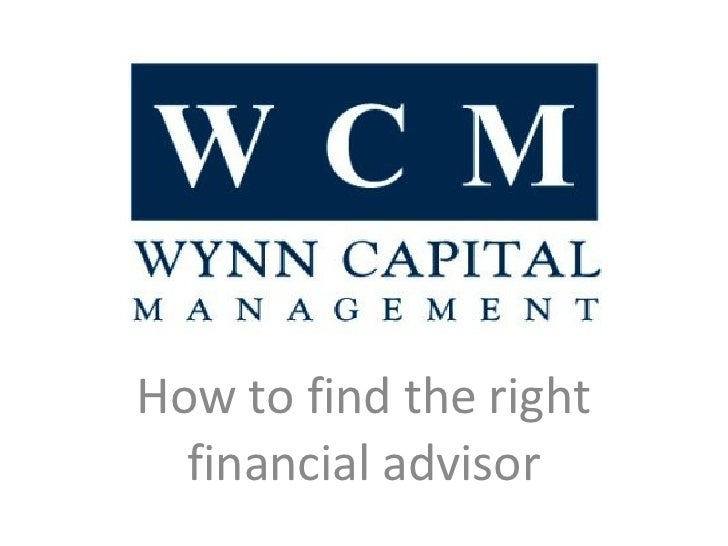 How to find the right financial advisor
