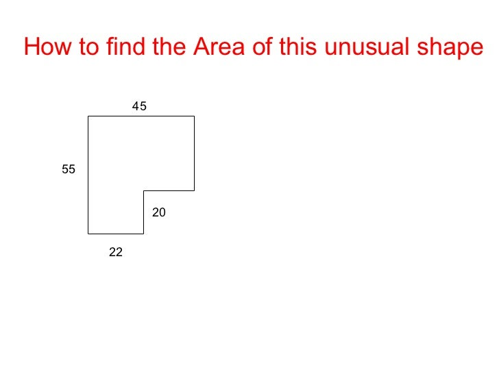 how to find area