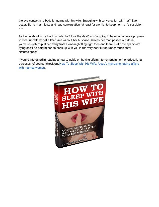 What To Do When A Married Woman Flirts With You