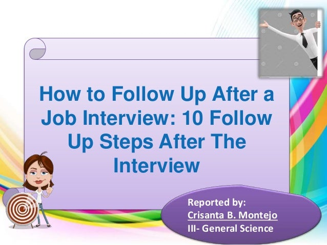 how to follow up after job interview