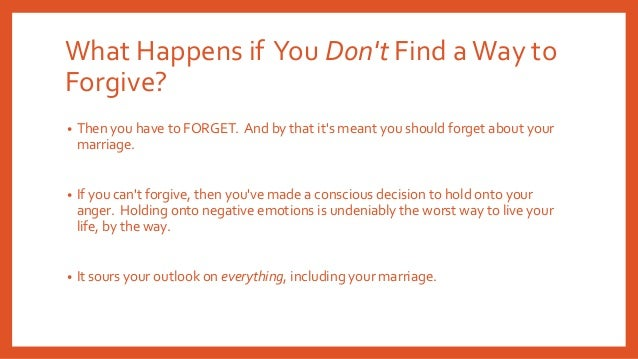 How to forget and forgive cheating