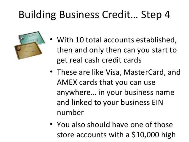 How to get a 10000 business credit card with no personal guarantee 22 building business credit reheart Choice Image