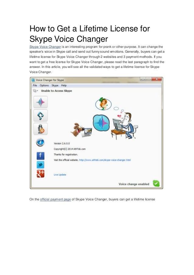 voice changer program for skype