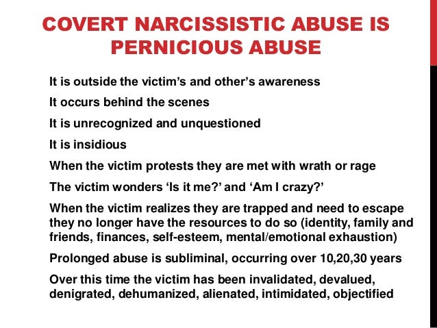 Abused by a narcissist
