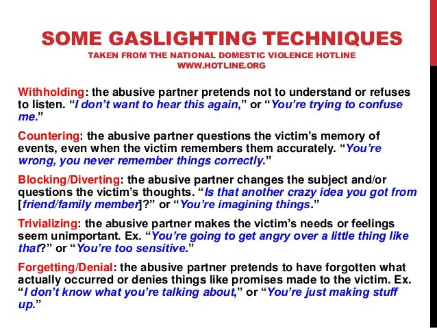 ... 45. SOME GASLIGHTING ...  sc 1 st  SlideShare : definition of gas lighting - www.canuckmediamonitor.org