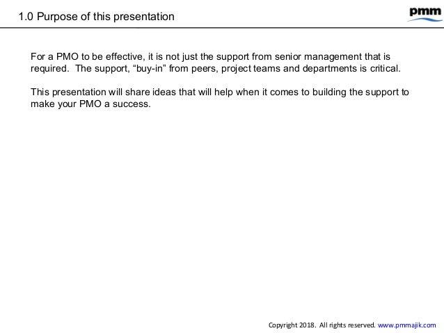 How to get buy in for pmo from other teams Slide 3