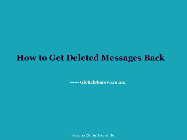 how to get deleted messages back on iphone how to get deleted messages back on iphone 20852