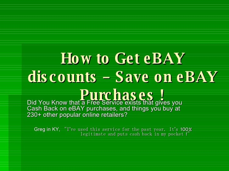 Take a look at our 31 eBay promo codes including 1 coupon code, 12 sales, 2 free shipping discount codes, and 16 deals. Most popular now: Up to 70% Off Latest and Greated eBay Coupons, Deals and Discounts + Free Shipping Deals on Tech, Fashion & More. Latest offer: 20% Off $50 Build-A-Bear Workshop Gift Card.