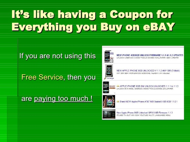 How to get ebay coupons