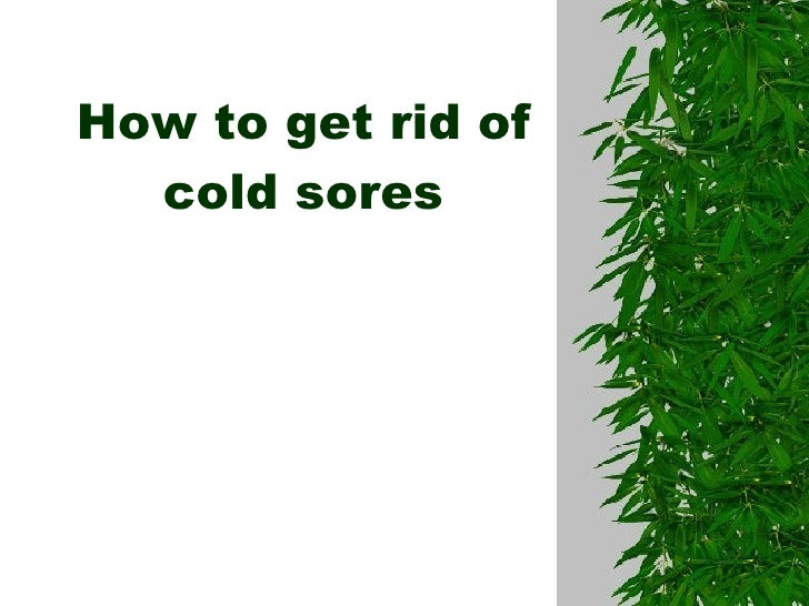 how to avoid cold sores