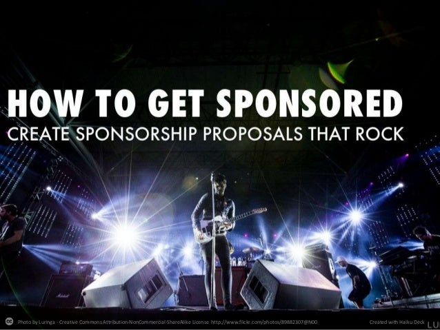 How To Get Sponsored Create A Sponsorship Proposal That Rocks