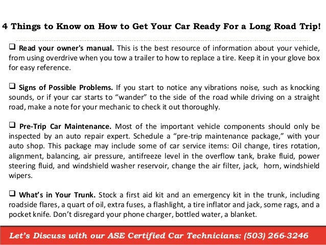Wondering How to Get Your Car Ready for a Road Trip?
