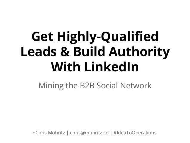 how to get sales leads from linkedin