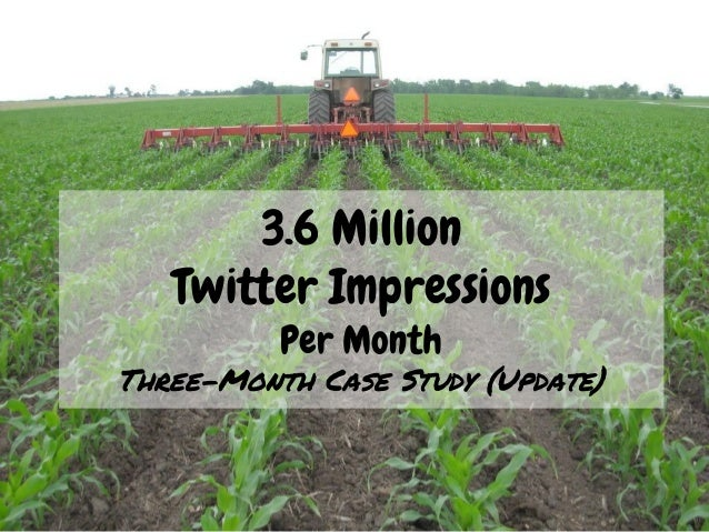 3.6 Million Twitter Impressions Per Month Three-Month Case Study (Update)