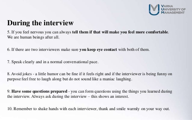 how to have a successful interview
