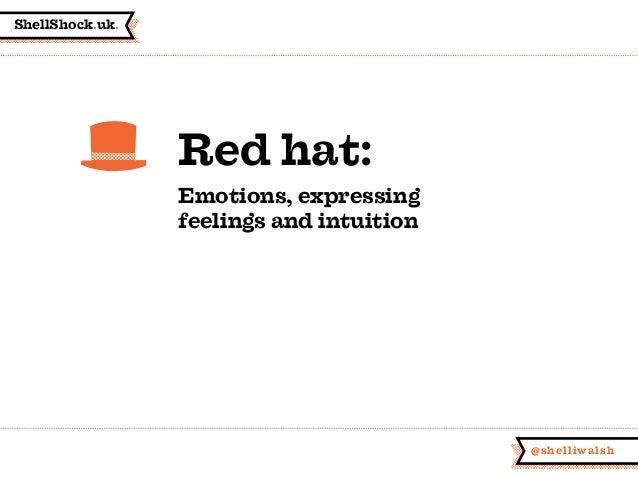 ShellShock.uk. @shelliwalsh Red hat: Emotions, expressing feelings and intuition