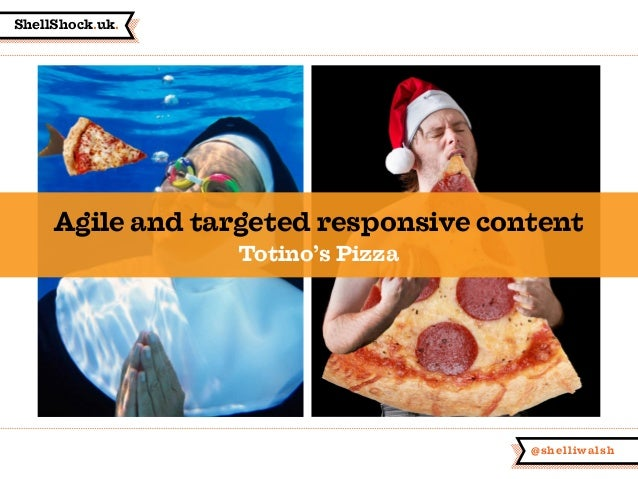 ShellShock.uk. @shelliwalsh Agile and targeted responsive content Totino's Pizza