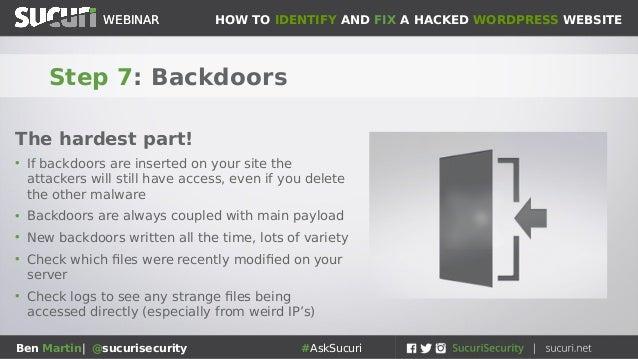 Sucuri Webinar: How to clean hacked WordPress sites