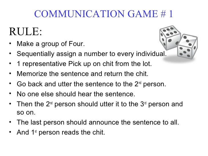 Verbal communication games for adults