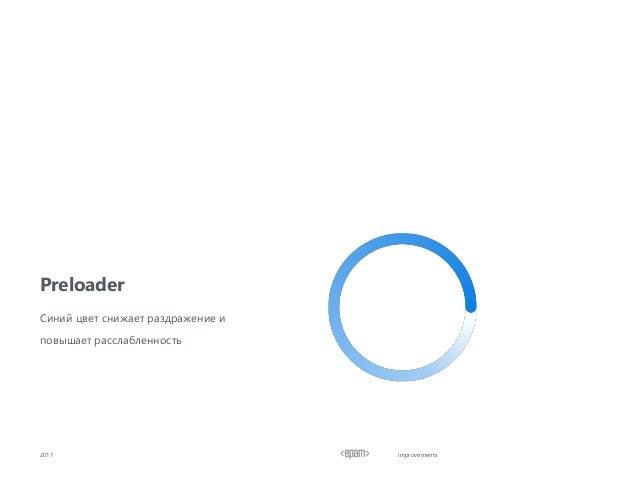 Improvements Preloader 2017 Синий цвет снижает раздражение и повышает расслабленность