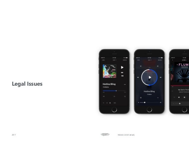 Legal Issues 2017 Mobile UI/UX details
