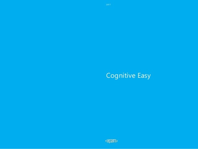 Cognitive Easy 2017