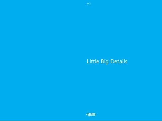 Little Big Details 2017