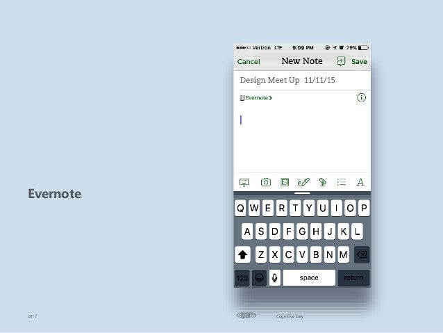 Cognitive Easy Evernote 2017