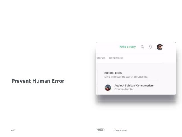 Microinteractions2017 Prevent Human Error