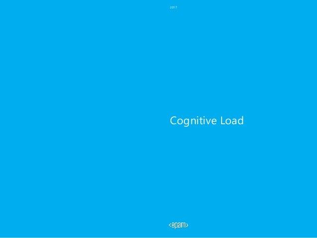 Cognitive Load 2017