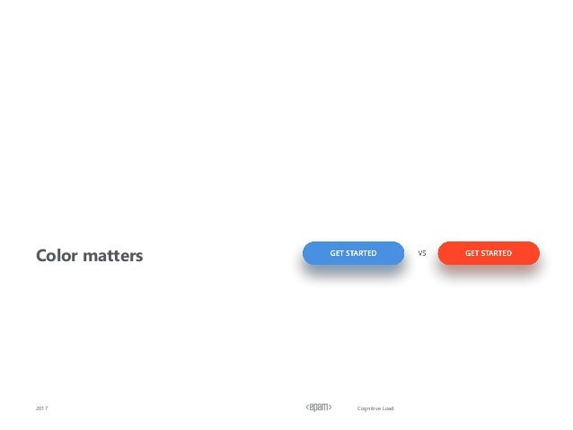 Cognitive Load Сolor matters 2017