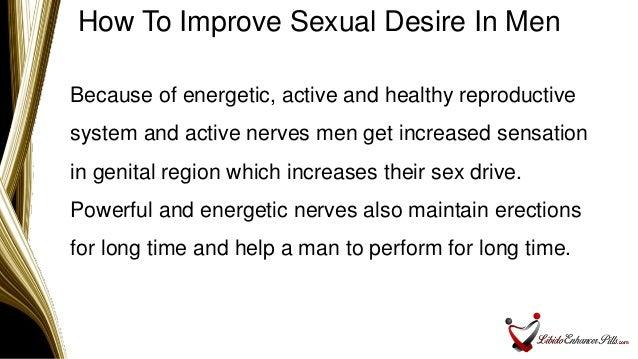 Intelligible male sex improvement